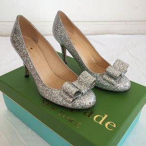 Glitter Kate Spade Krysta Bow Heels